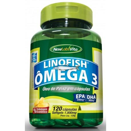 ÔMEGA 3 LINO FISH - 120 cápsulas de 1000mg - NEWLABSVITA