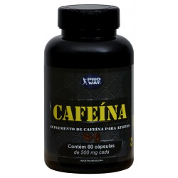 CAFEÍNA PROWAY - 60 cápsulas 500mg - PROWAY