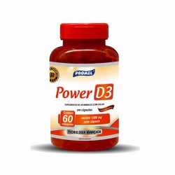 CÁLCIO E VITAMINA D3 POWER D3 - 60 cápsulas de 600mg de cálcio e 5mcg de vitamina D3 - PROMEL