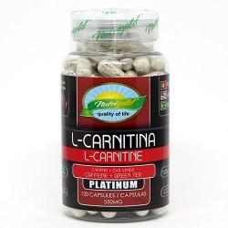L-CARNITINA PLATINUM COM CAFEÍNA E CHÁ VERDE - 120 cápsulas de  550 mg - NUTRIGOLD