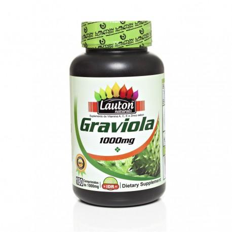 GRAVIOLA - 180 comprimidos de 1000mg - LAUTON NATURALS