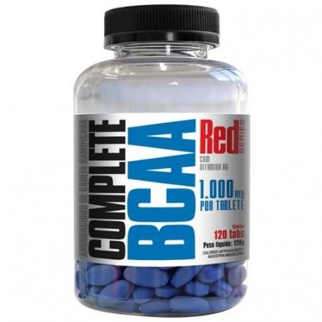 BCAA COMPLETE -120 tabletes de 1000mg com vitamina B6 - RED SERIES