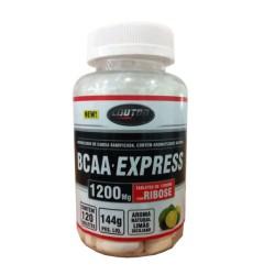 BCAA EXPRESS - 120 tabletes de 1200mg com RIBOSE - limão siciliano -LAUTON