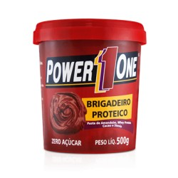 PASTA DE AMENDOIM BRIGADEIRO PROTEICO - 500g POWER1ONE