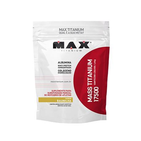 HIPERCALÓRICO MASS TITANIUM 17500 - 1,4 Kg  sabor baunilha - MAX TITANIUM