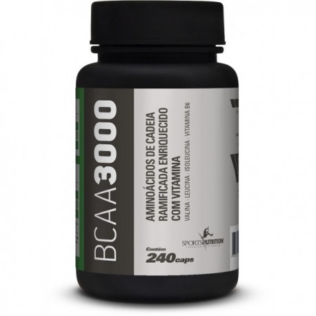 BCAA 3000 - 240 cápsulas - SPORTS NUTRITION