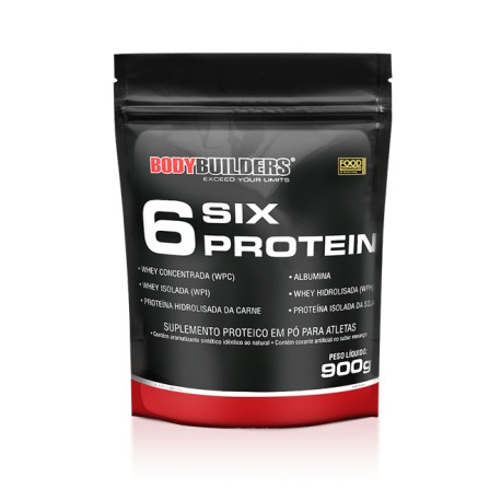 WHEY PROTEIN 6 SIX PROTEINS - 900g sabor chocolate - BODYBUILDERS